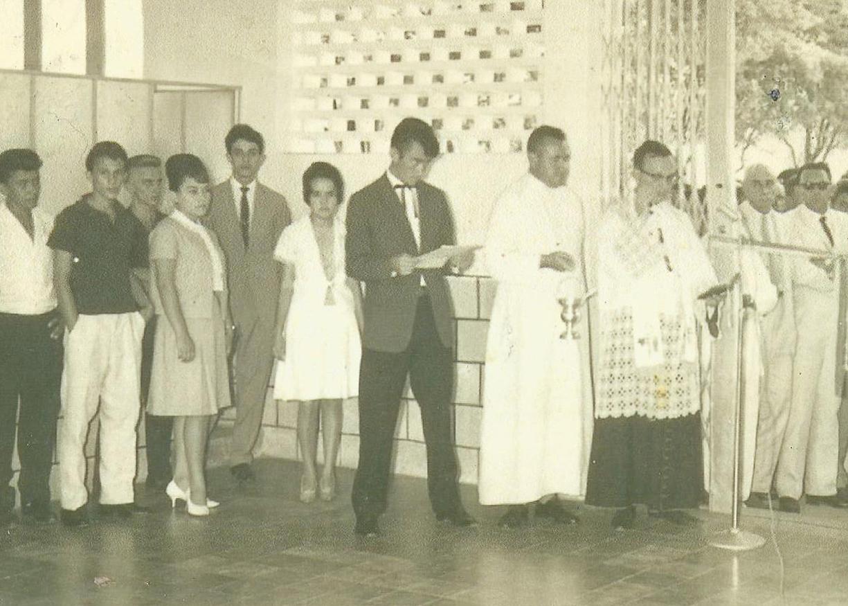 Inauguração - Missa de abertura - Chico Elias primeiro locutor da RR - 1963
